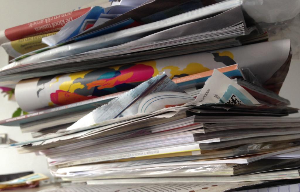 papierberg afval