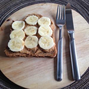 pindakaas met banaan