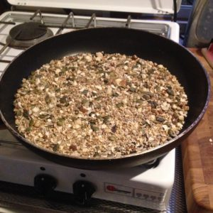 granola koekenpan
