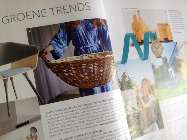 Spreadpagina over groene trends van het tijdschrift Groener Wonen