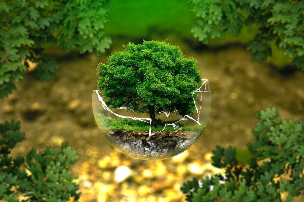 duurzaam leven bescherming van de aarde in illustratie