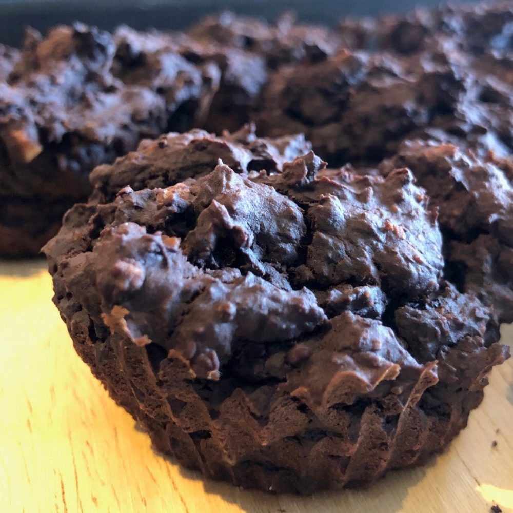 brownie van zwarte bonen