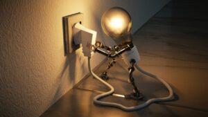 animatie lampje stopcontact
