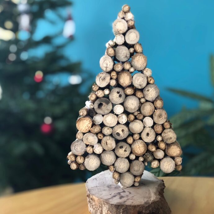 kerstboom van snoeihout