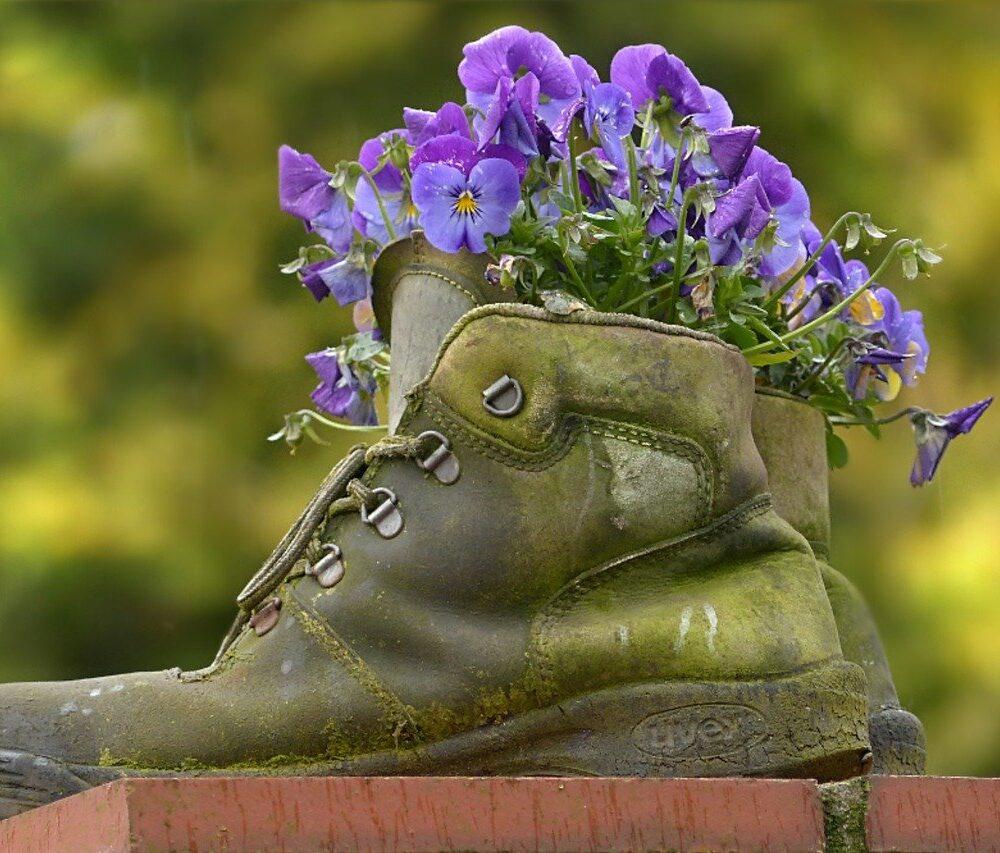 Maak je eigen tuindecoratie door te recyclen